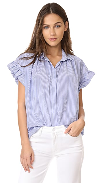 Birds of Paradis Ruffle Sleeve Shirt