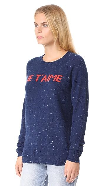 Birds of Paradis Navy Je T'aime Sweater