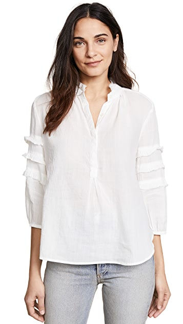 Birds of Paradis Anna Ruffle Sleeve Henley