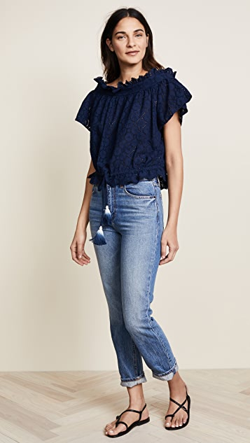 Birds of Paradis Janette Bare Shoulder Top