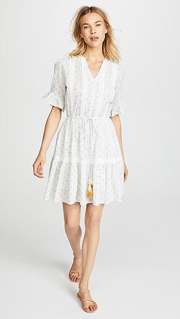 Birds of Paradis Julie Short Ruffle Sleeve Dress