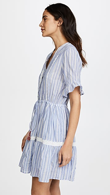 Birds of Paradis Julie Short Ruffle Sleeve Dress