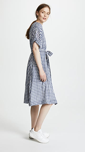 Birds of Paradis Sophie V Neck Shirtdress