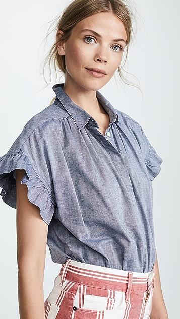 Birds of Paradis Marianne Ruffle Sleeve Shirt