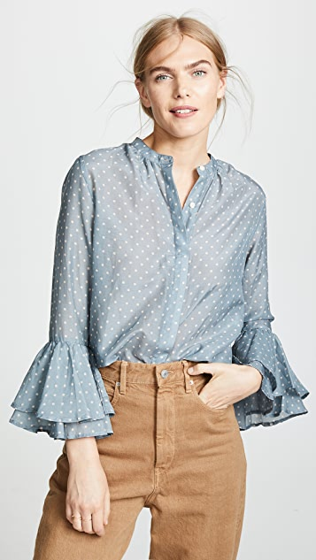 Birds of Paradis The Victoria Bell Sleeve Blouse