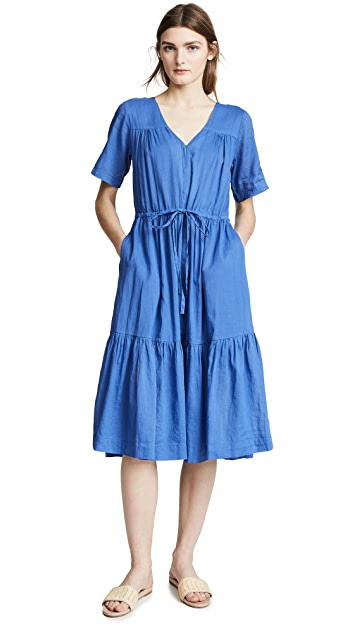 Birds of Paradis Willow Ruffle Hem Dress