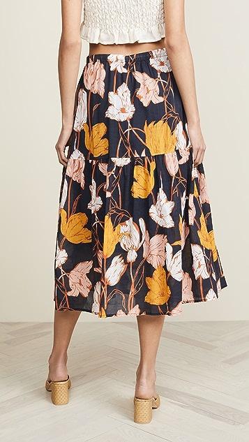 Birds of Paradis Penny Drawstring Skirt