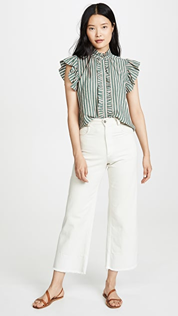 Birds of Paradis Paige Ruffle Trim Blouse