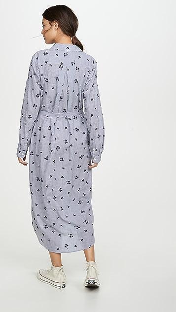 Birds of Paradis Kelly 条纹衬衫式连衣裙