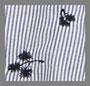 深海蓝条纹刺绣