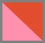 粉色棕榈印花