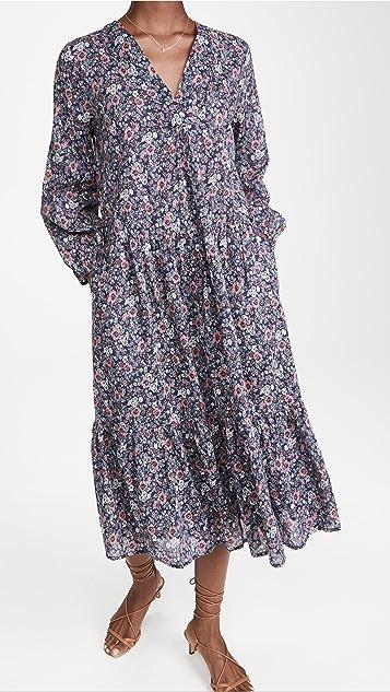 Birds of Paradis Holland Tiered Dress