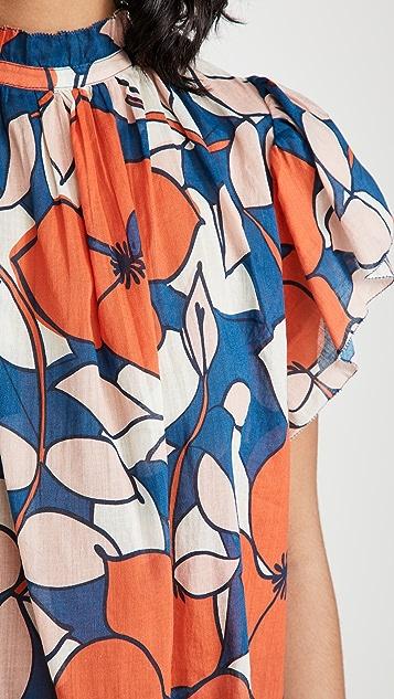 Birds of Paradis Carla High Neck Shirt