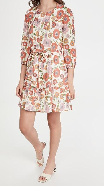 Birds of Paradis Poppy Print Nia Dress