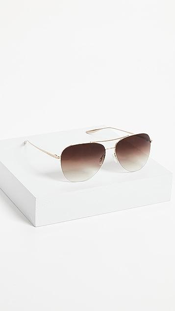 Barton Perreira Chevalier Aviator Sunglasses