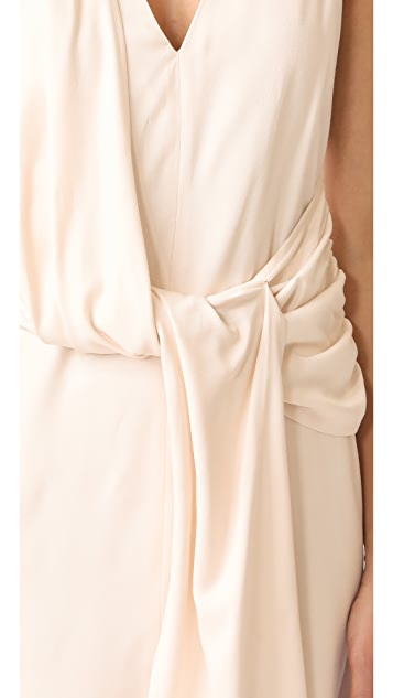 Brochu Walker Taft Draped Dress