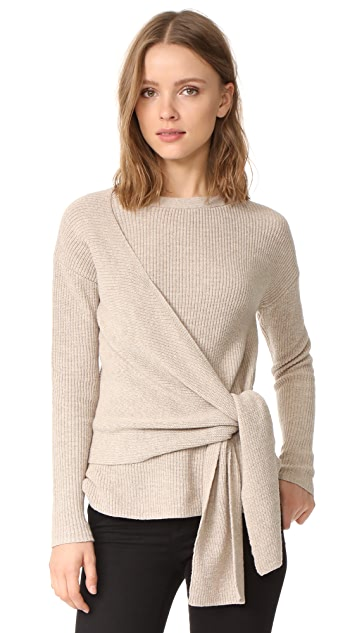 White Wrap Sweater