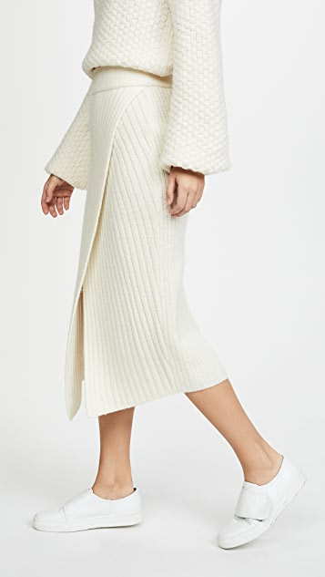 Brochu Walker Flavie Ribbed Knit Skirt