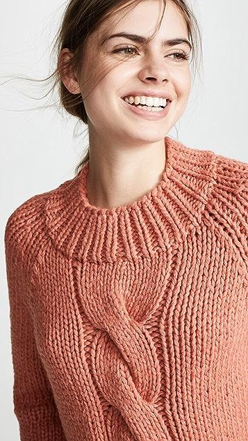 Brochu Walker Связанный вручную пуловер Gia