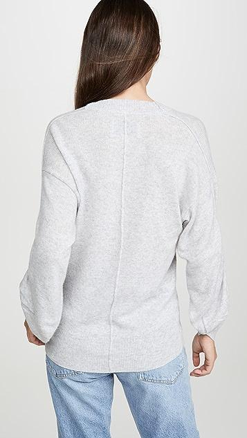 Brochu Walker Кашемировый свитер Danya с V-образным вырезом