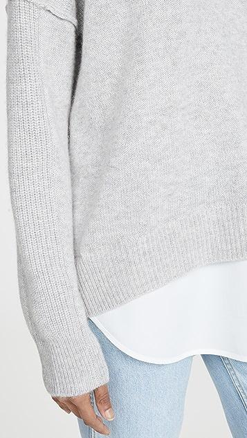 Brochu Walker Layered Brighter Crew Sweater