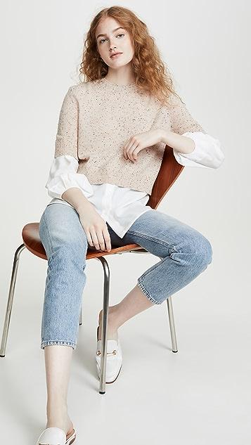 Brochu Walker Ebella Layered Crew Sweater