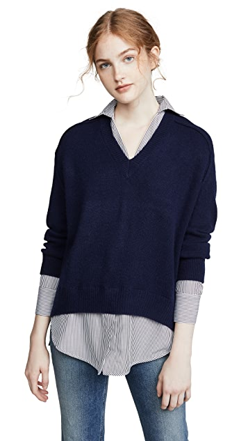 Brochu Walker Layered V Looker Pullover