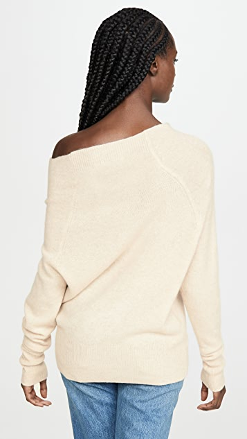 Brochu Walker Lori Off Shoulder Cashmere Sweater