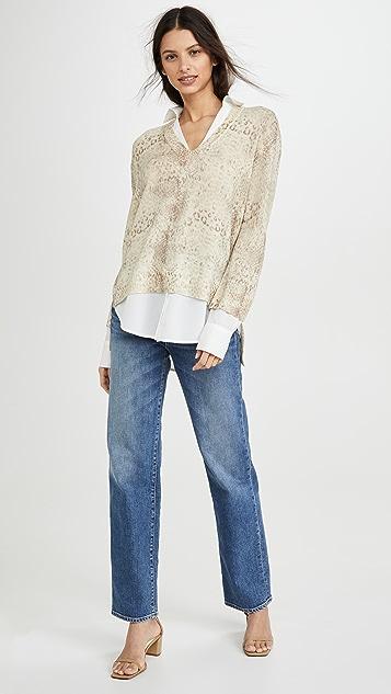 Brochu Walker Принтованный многослойный свитер с V-образным вырезом