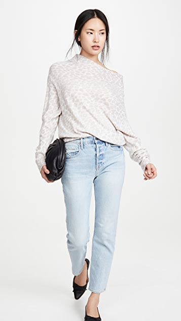 Brochu Walker Lori Luxe Off Shoulder Cashmere Sweater
