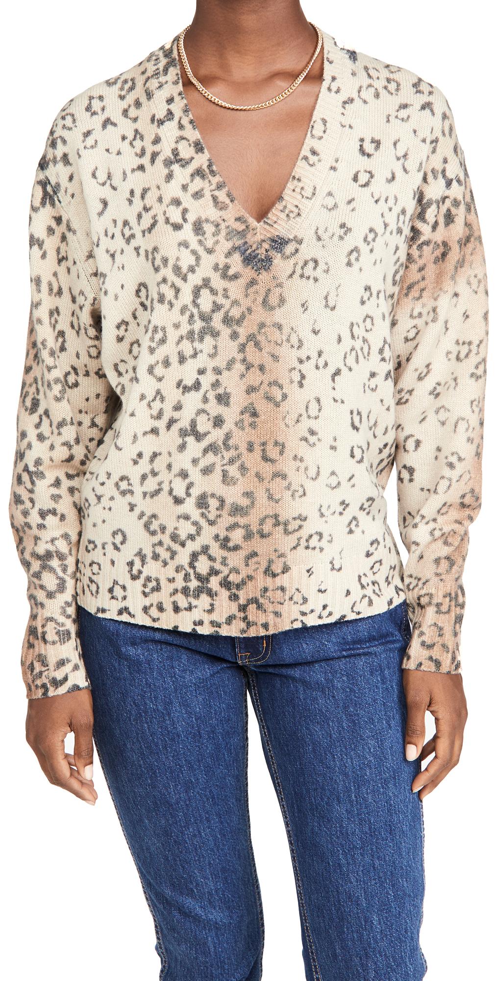 Brochu Walker Millie Printed V Neck Sweater
