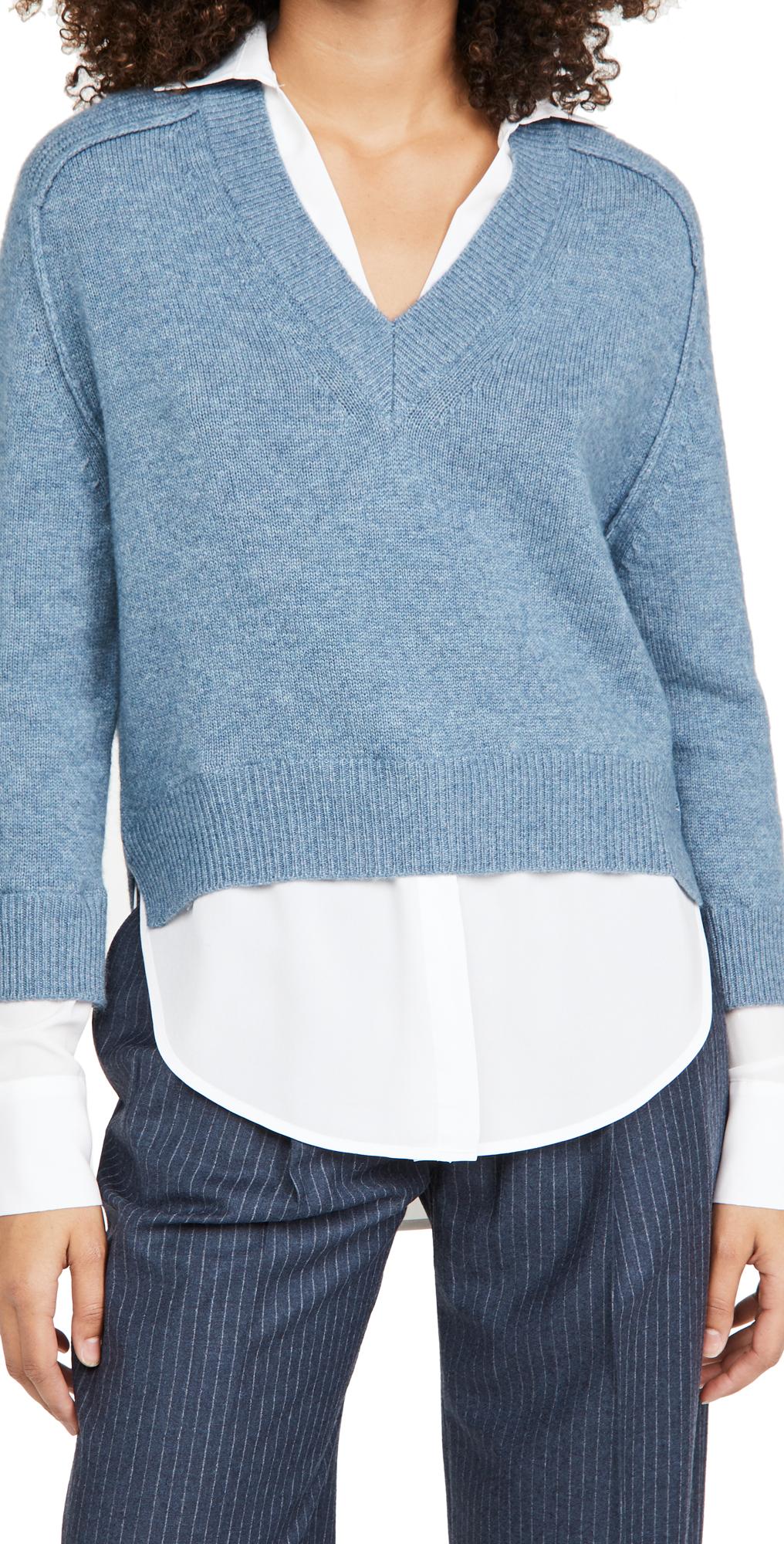 Alum V Neck Layered Looker Sweater
