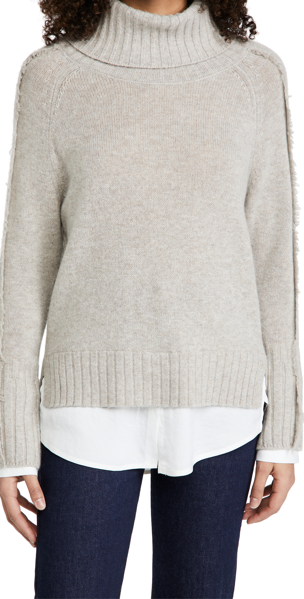 Brochu Walker Jolie Fringe Layered Looker Sweater