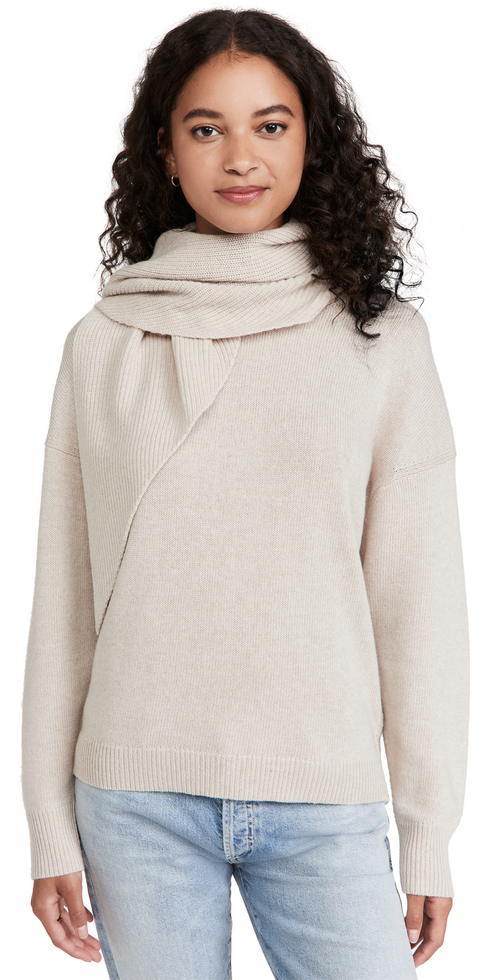 Rhea Pullover with Scarf Neck