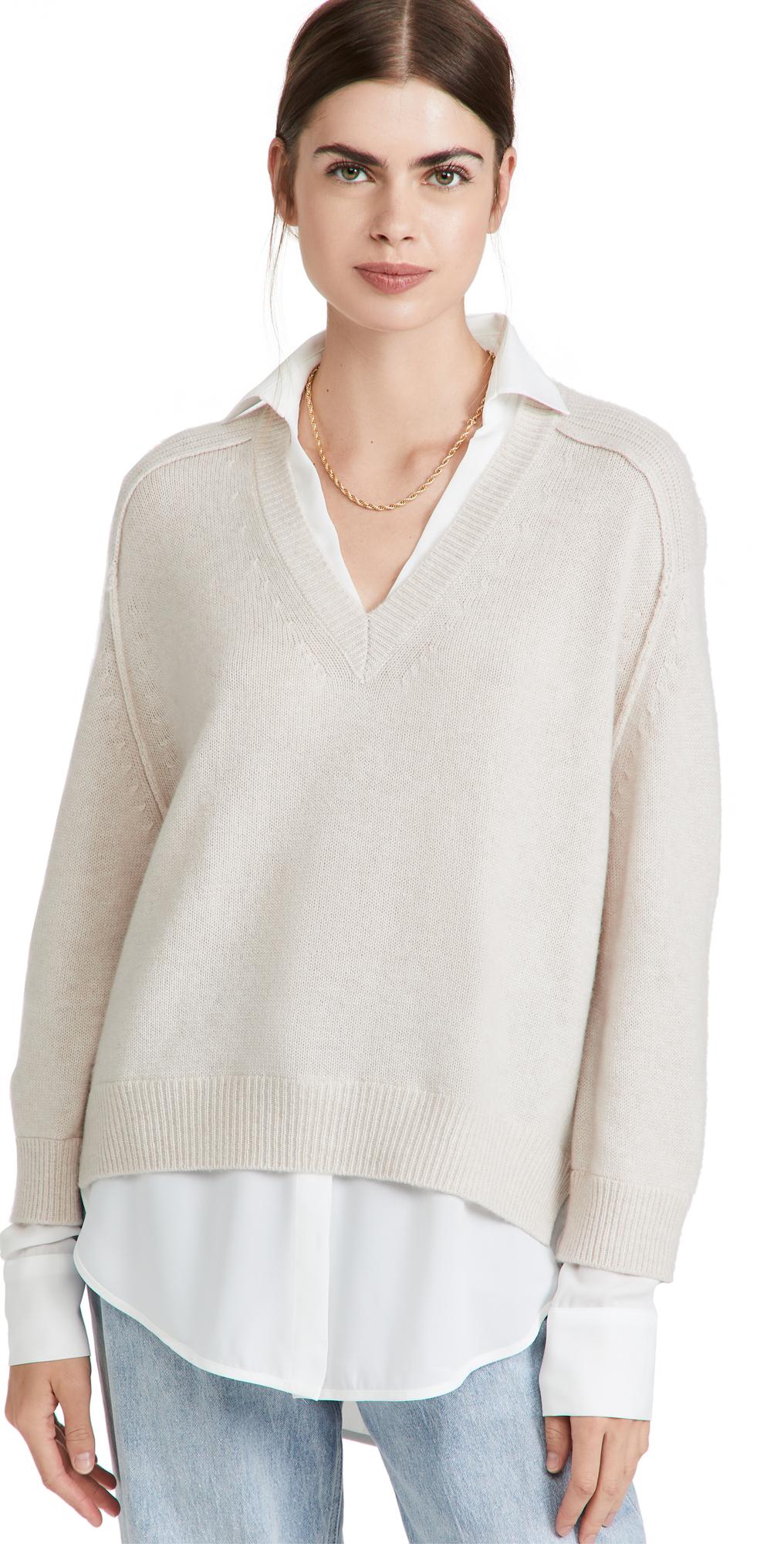 V-Neck Layered Pullover