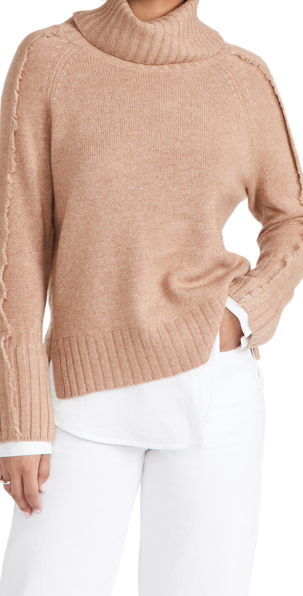 Jolie Fringe Layered Sweater