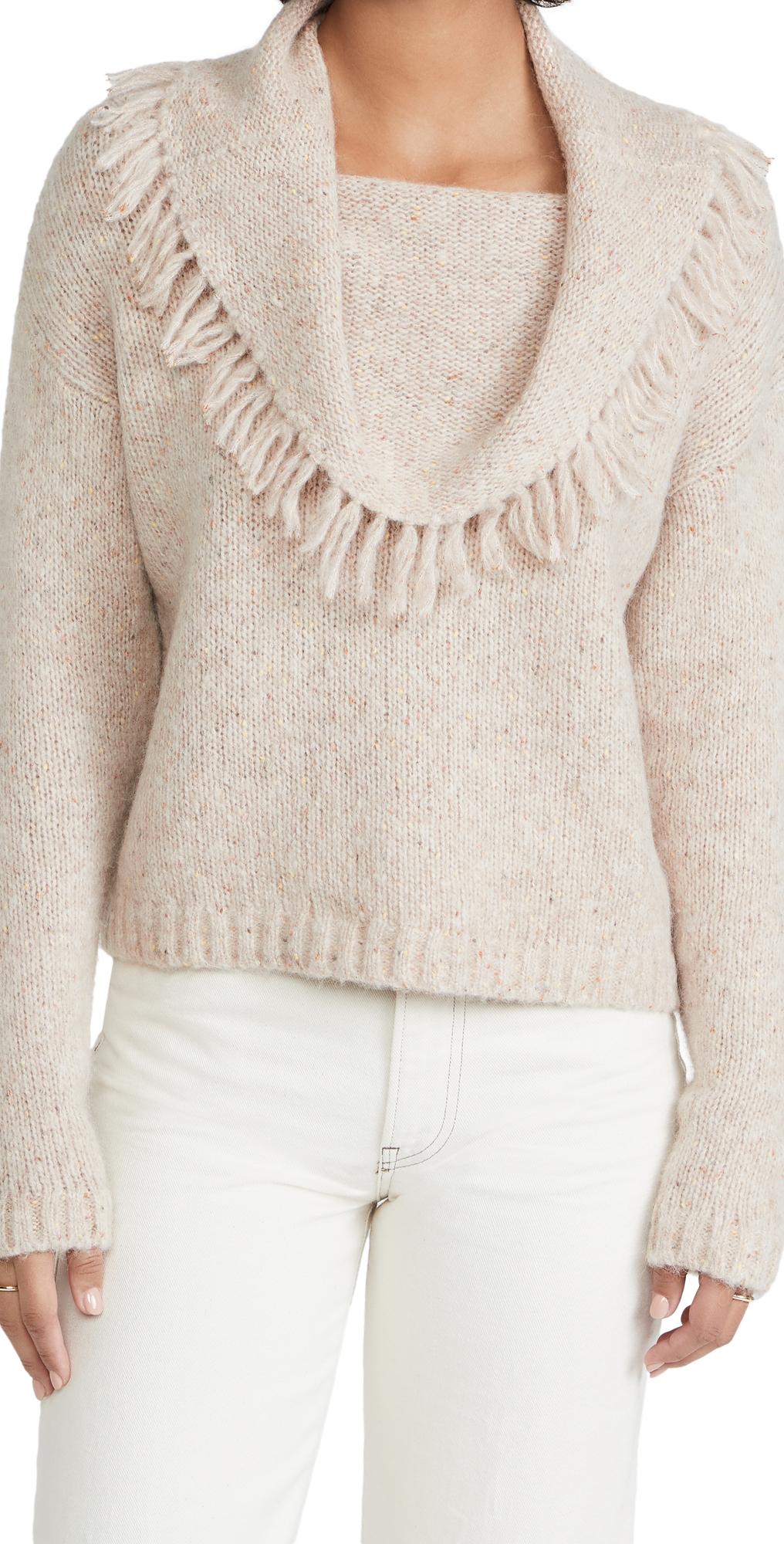 Lewes Fringe Off Shoulder Sweater