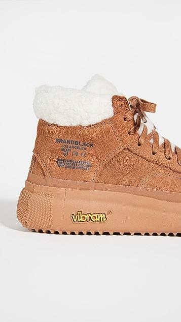 Brandblack Capo Sherpa High Top Sneakers