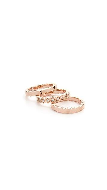 Bronzallure Set of 3 Fancy Rings