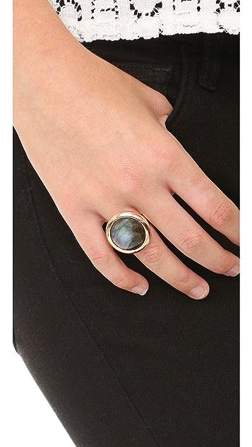 Bronzallure Round Labradorite Ring