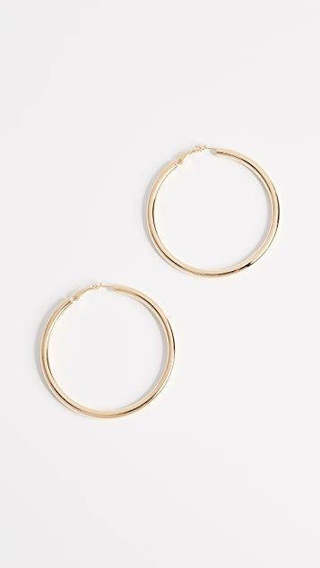 Bronzallure Purezza Big Hoop Earrings