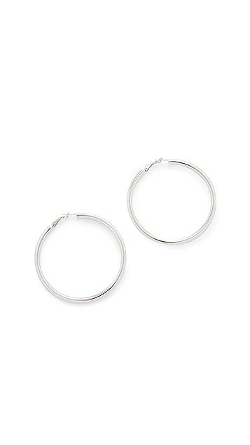 Bronzallure Purezza Big Hoop Earrings