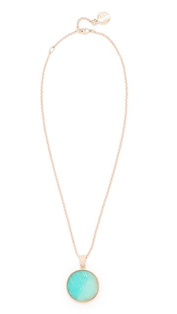 Bronzallure Alba Disc Pendant Necklace