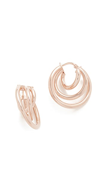 Bronzallure Triple Hoop Earrings etbcNi