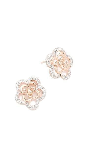 Bronzallure Alba Flower Earrings