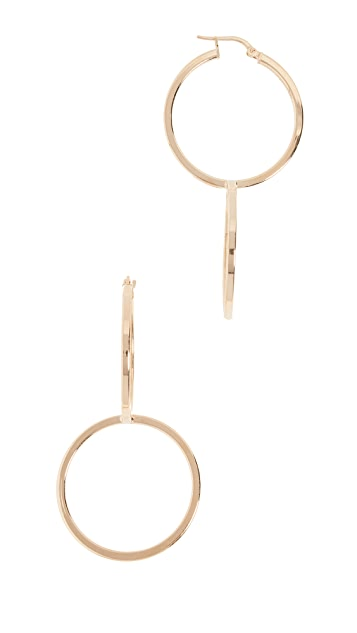 Bronzallure Interlocking Hoop Earrings