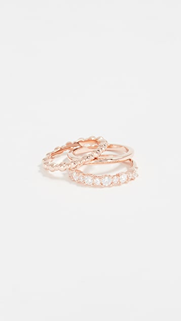 Bronzallure Crystal Stacked Ring