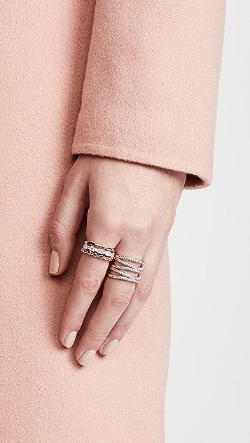 Bronzallure Crystal Crossed Ring