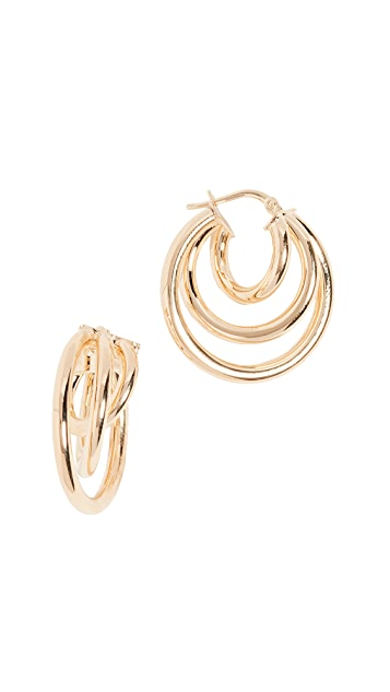 Bronzallure Triple Hoop Earrings