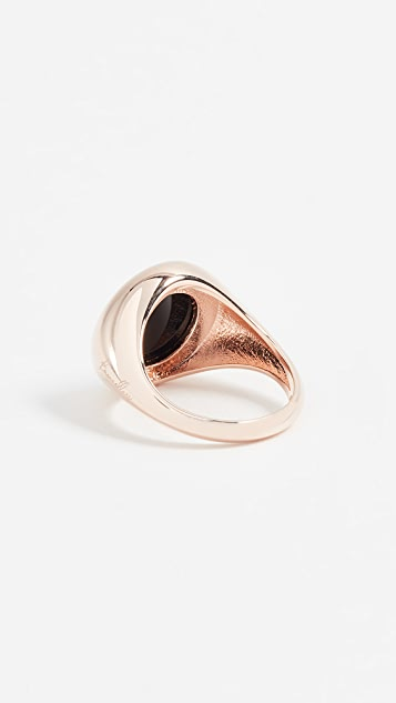 Bronzallure Onyx Pinky Signet Ring